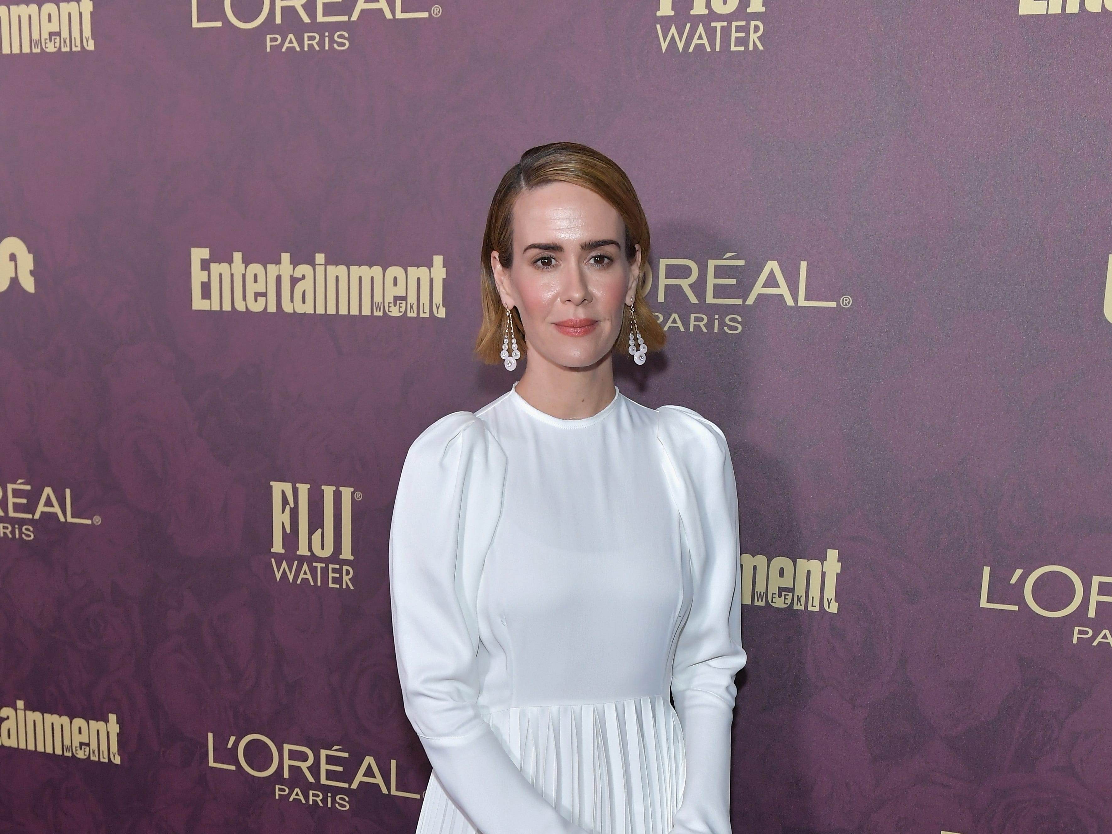 LOS ANGELES, CA - SEPTEMBER 15:  Sarah Paulson attends the 2018 Pre-Emmy Party hosted by Entertainment Weekly and L'Oreal Paris at Sunset Tower on September 15, 2018 in Los Angeles, California.  (Photo by Neilson Barnard/Getty Images for Entertainment Weekly) ORG XMIT: 775214113 ORIG FILE ID: 1033989482