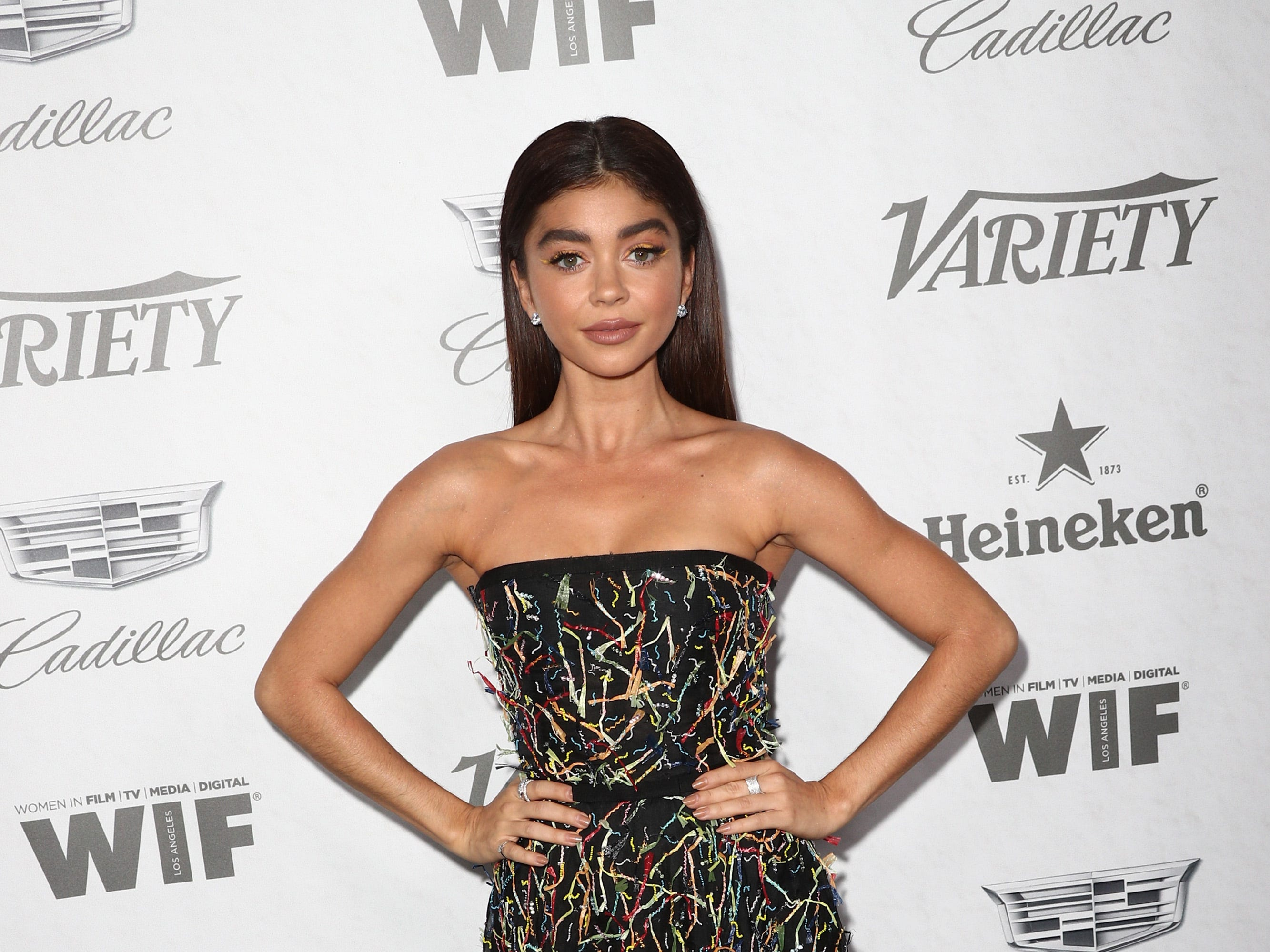 WEST HOLLYWOOD, CA - SEPTEMBER 15:  Sarah Hyland attends Variety and Women in Film's 2018 Pre-Emmy Celebration at Cecconi's on September 15, 2018 in West Hollywood, California.  (Photo by Frederick M. Brown/Getty Images) ORG XMIT: 775218358 ORIG FILE ID: 1033989040
