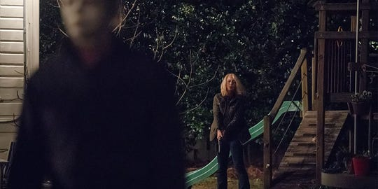 """Laurie Strode (Jamie Lee Curtis) faces her worst enemy for the first time in 40 years in """"Halloween."""""""