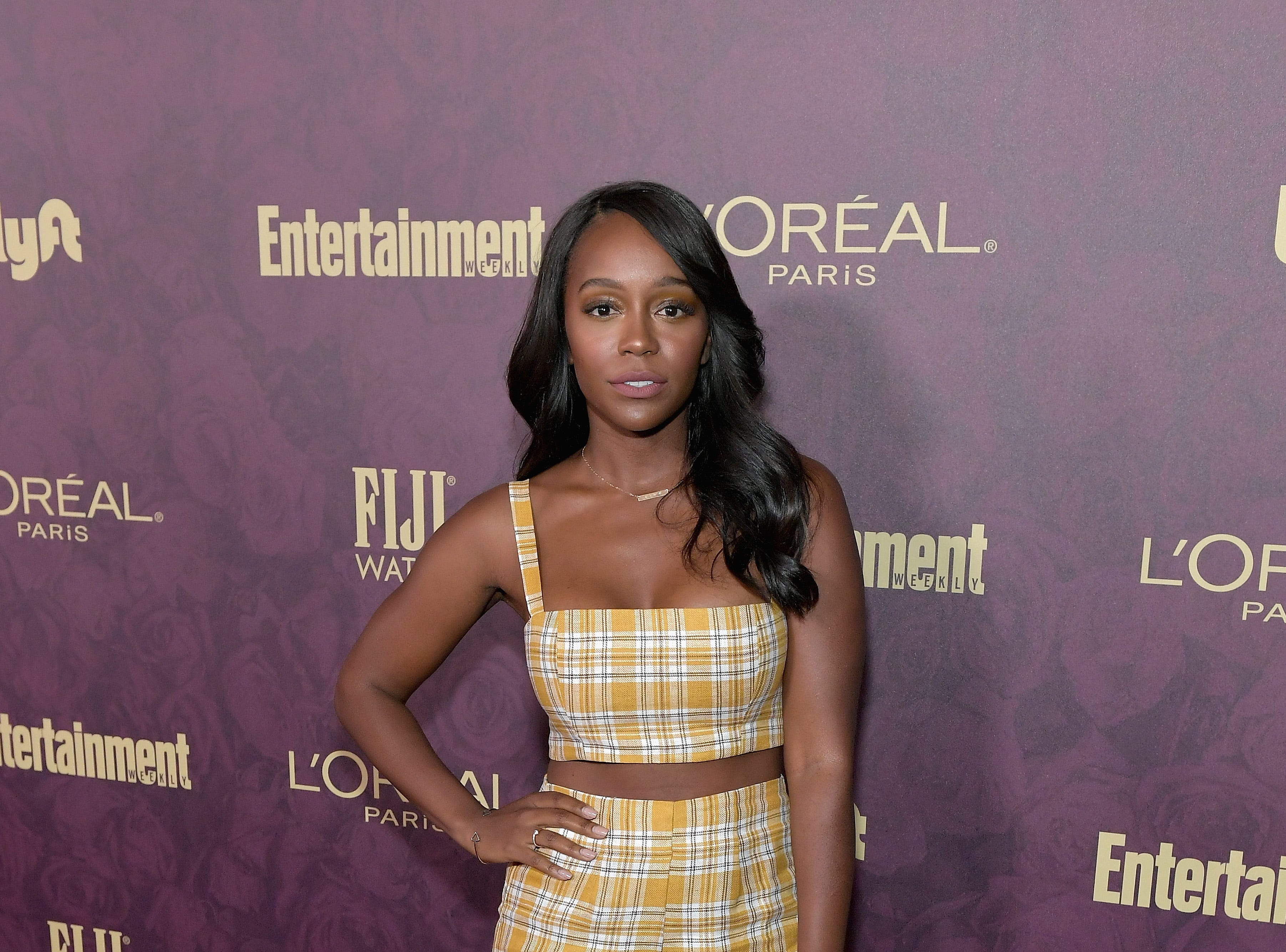 LOS ANGELES, CA - SEPTEMBER 15:  Aja Naomi King attends the 2018 Pre-Emmy Party hosted by Entertainment Weekly and L'Oreal Paris at Sunset Tower on September 15, 2018 in Los Angeles, California.  (Photo by Neilson Barnard/Getty Images for Entertainment Weekly) ORG XMIT: 775214113 ORIG FILE ID: 1034005128