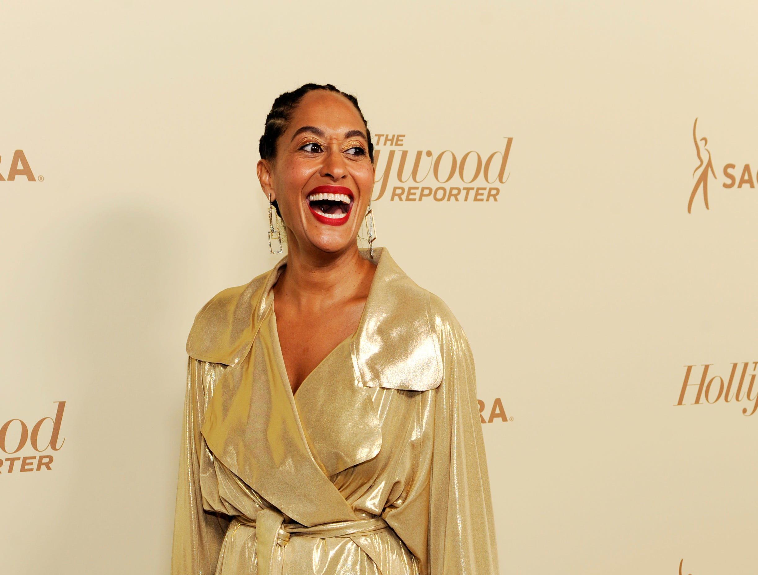 Actress Tracee Ellis Ross poses at the 2018 Hollywood Reporter & SAG-AFTRA Emmy Nominees Night, Friday, Sept. 14, 2018, in Beverly Hills, Calif. (Photo by Chris Pizzello/Invision/AP) ORG XMIT: CACP105