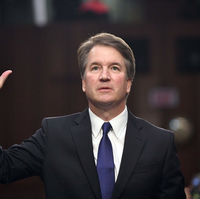 Supreme Court nominee Brett Kavanaugh is sworn in for his confirmation hearings, Sept. 4, 2018, Washington, D.C.