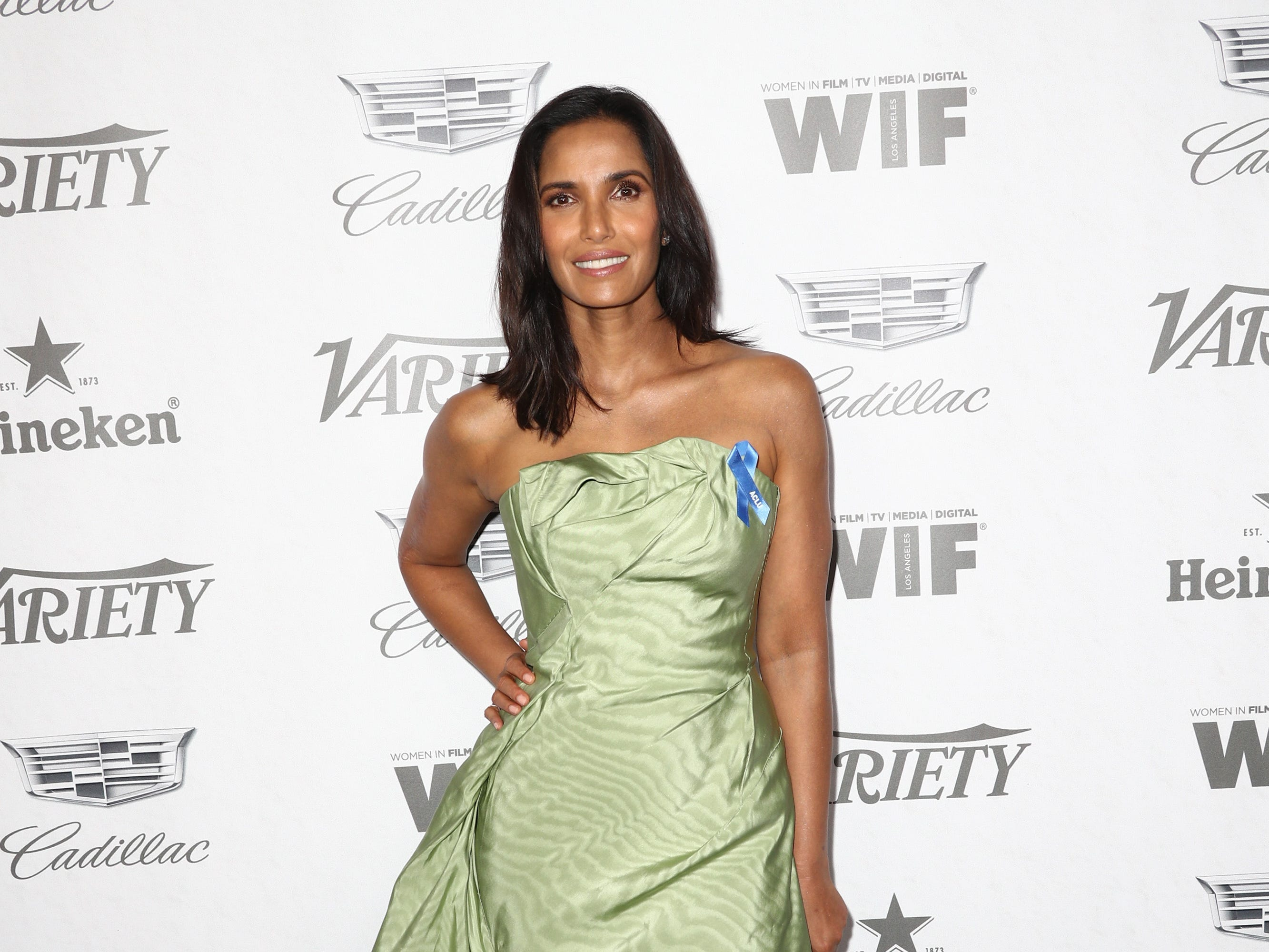 WEST HOLLYWOOD, CA - SEPTEMBER 15:  Padma Lakshmi attends Variety and Women in Film's 2018 Pre-Emmy Celebration at Cecconi's on September 15, 2018 in West Hollywood, California.  (Photo by Frederick M. Brown/Getty Images) ORG XMIT: 775218358 ORIG FILE ID: 1033997172