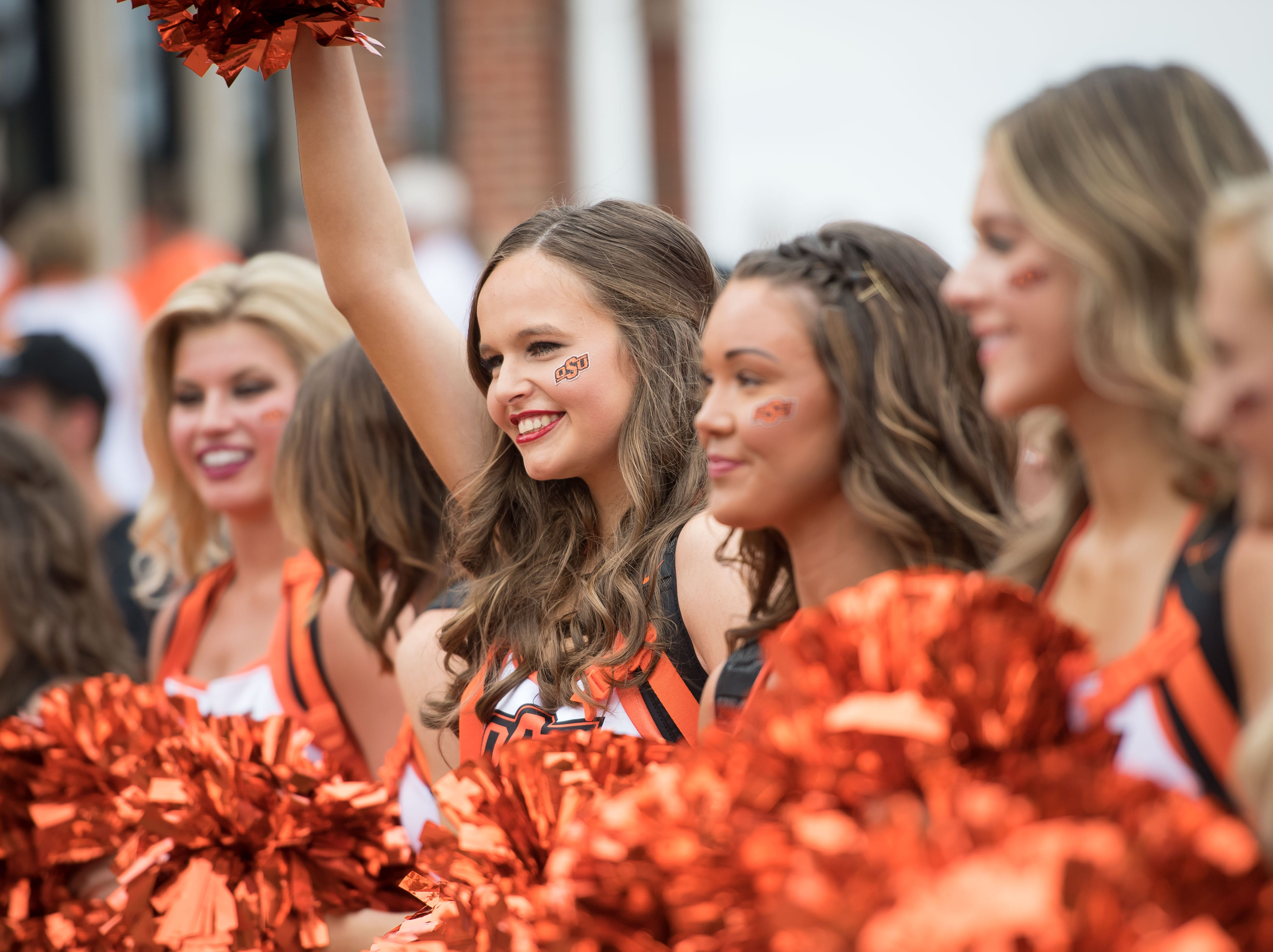 Week 3: The Oklahoma State Cowboys pom squad during The Walk before the game against the Boise State Broncos at Boone Pickens Stadium.