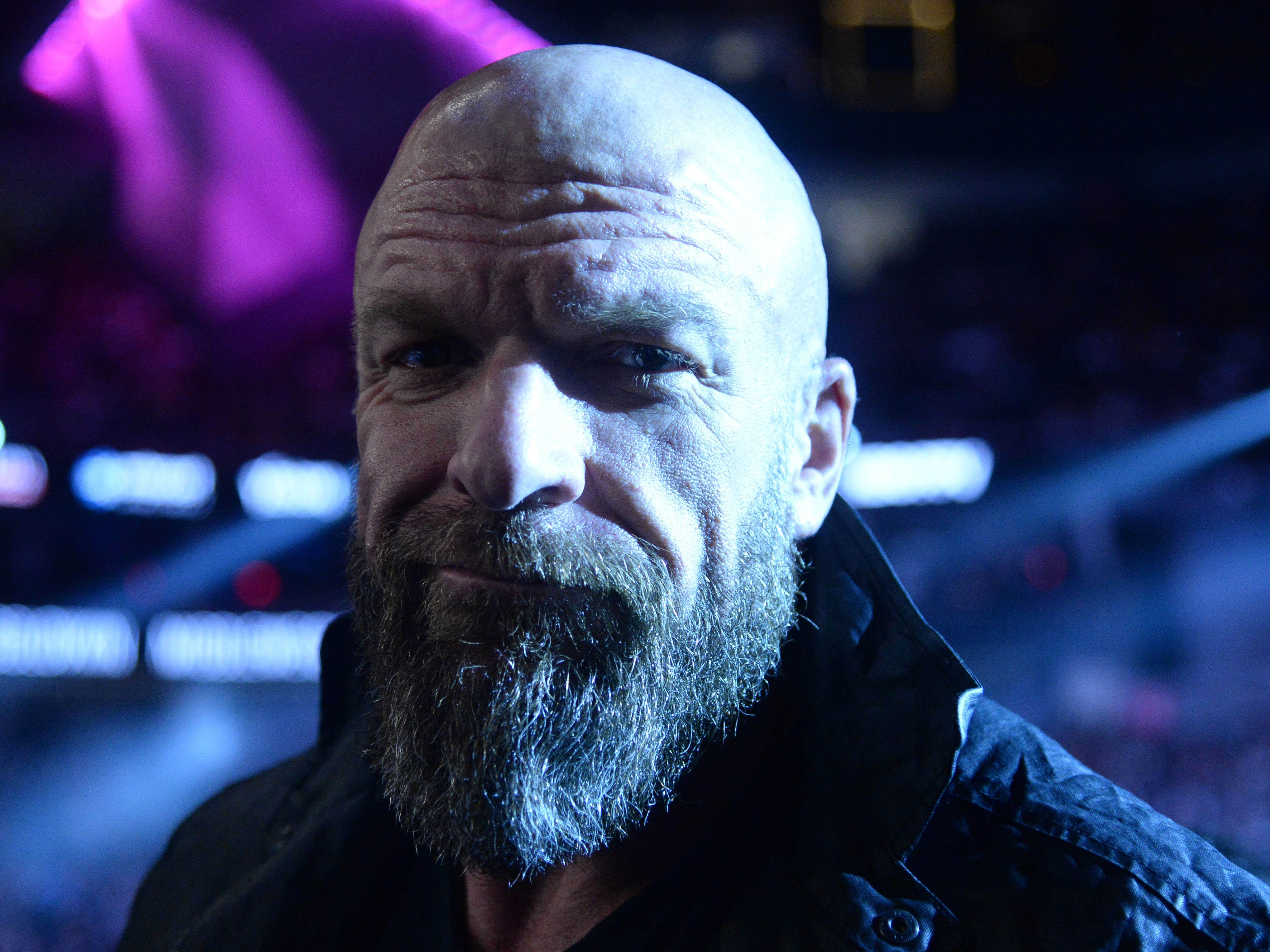 Triple H, wrestling legend and COO of the WWE, before the fight.