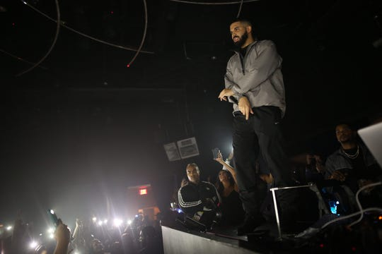 Drake Performs at DAER Nightclub at Hard Rock Hotel & Casino Atlantic City Sunday, Sept. 16, 2018.