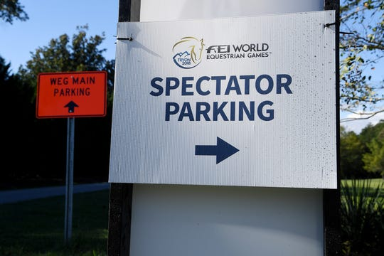 The main spectator parking area at the FEI World Equestrian Games is too soggy to be used, so parking has been moved to the Sandy Plains Volunteer Headquarters for Monday and Tuesday. Parking will return to the Steeplechase Lot, at 6881 S. N.C. 9 in Columbus, on Wednesday.