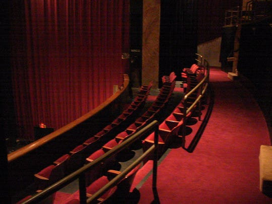 The balcony of the Endicott Performing Arts Center offers a great view of what's onstage.