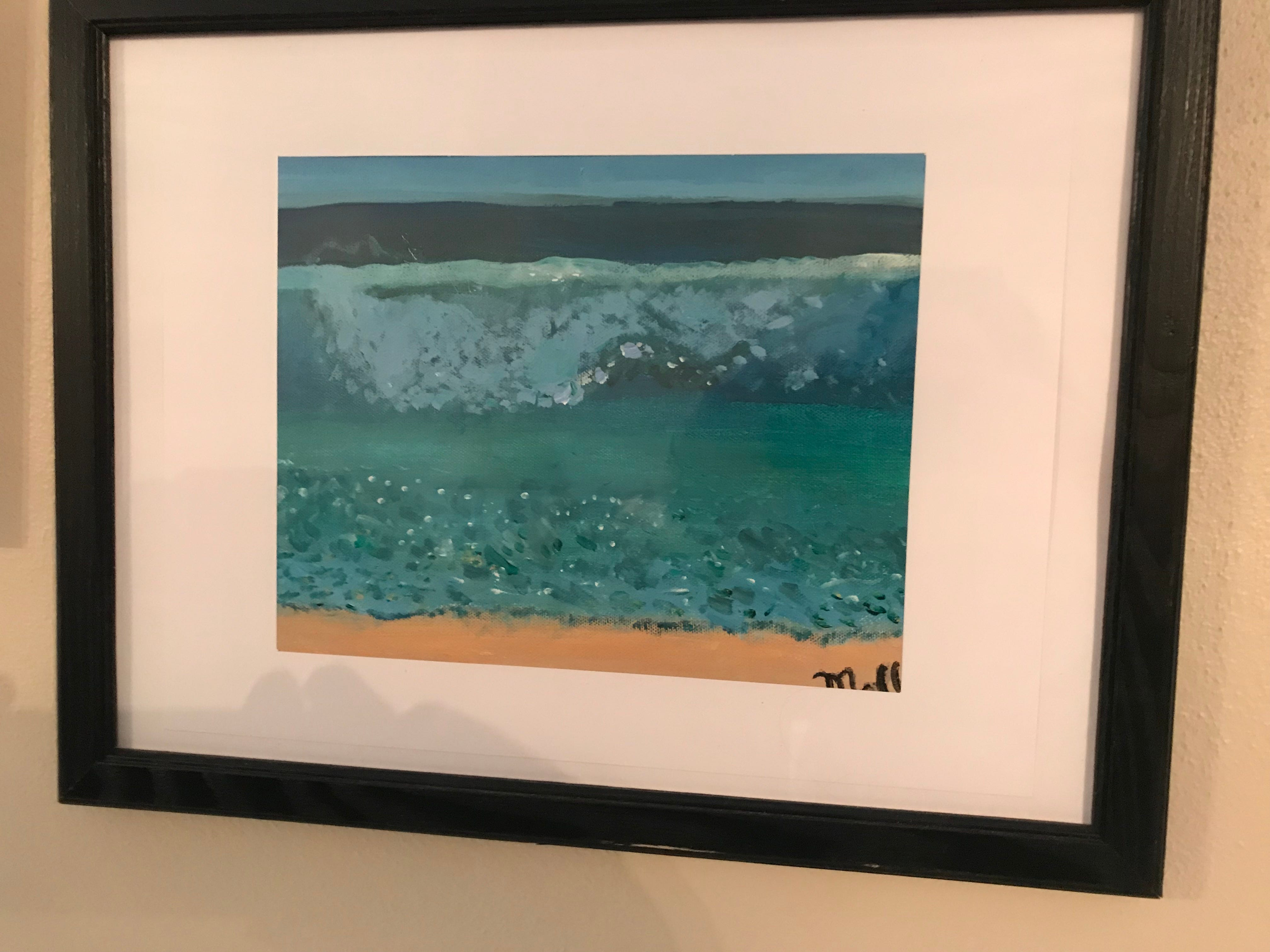 Johnson City Central School District seventh grader Molly Jablonowski, 12, has been creating art for the last 5 years. Among her work is this seascape, which hangs in the living room of her Johnson City home.