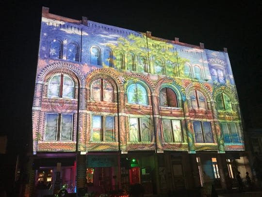 """Mural Mappings"" at the LUMA Projection Arts Festival featured work by local artists who wanted to try projection mapping for the first time."