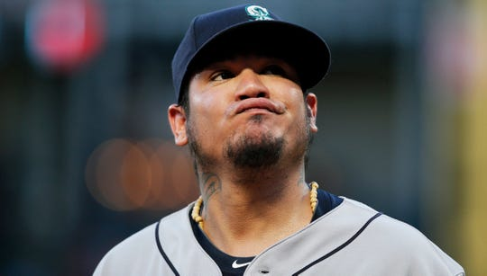 Felix Hernandez was briefly removed from the Mariners' rotation following an 11-4 loss to the Rangers in Arlington on Aug. 7.