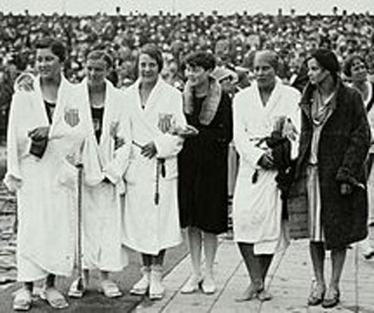 Adelaide Lambert, second from the left