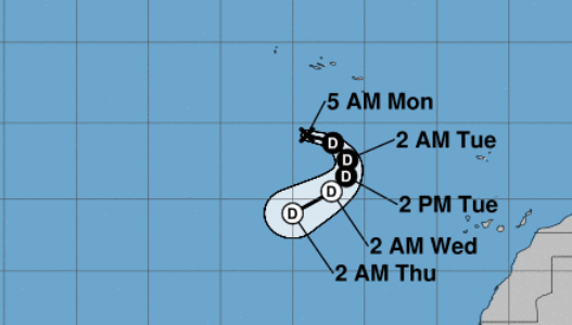 Tropical Depression Joyce hangs on; heavy rain in Jamaica associated with remnants of Isaac