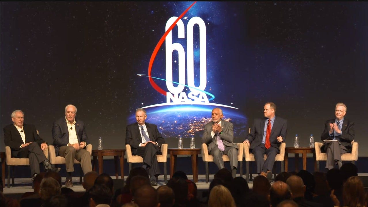 193dddc5-b638-415b-a61f-32367ca58d46-aiaa18_administrators1 Current and former NASA leaders discuss space agency at 60