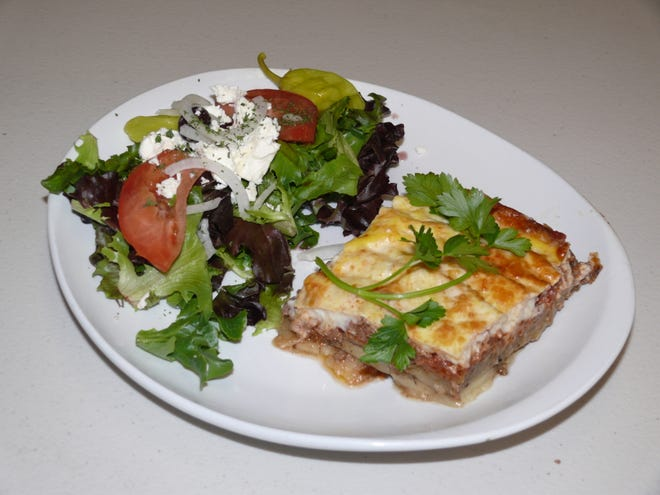 Traditional Middle eastern moussaka  is among the dinner options being added to the menu at Yianni's Deli in West Melbourne.