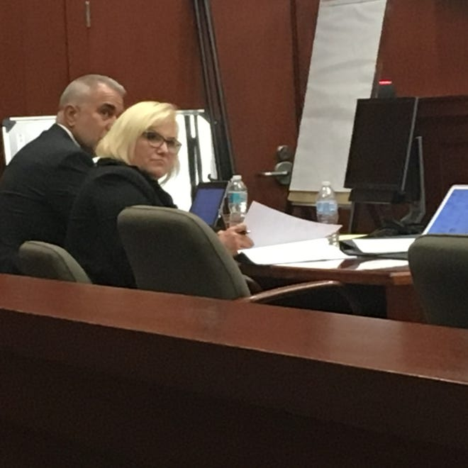 Blueware CEO Rose Harr during her bribery trial in Sanford.