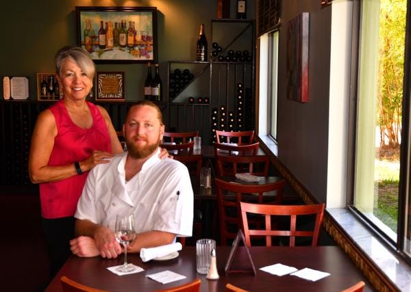 Sara Malmstrom and her son chef Gordon Malmstrom are co-owners of Sage Bistro in Cape Canaveral.