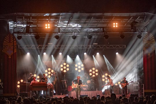 Nathaniel Rateliff and the Night Sweats  perform at Grand Point North in Burlington, VT, on Sunday, Sept. 16, 2018.