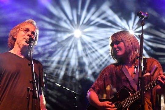 Jackson Browne and Grace Potter perform at Grand Point North in Burlington, VT, on Saturday, Sept. 15, 2018.