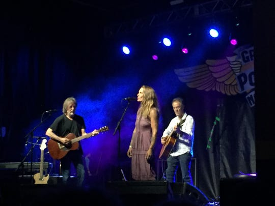 Jackson Browne, Ariel Zevon and Greg Leisz performed at Grand Point North on Saturday, Sept. 15, 2018.