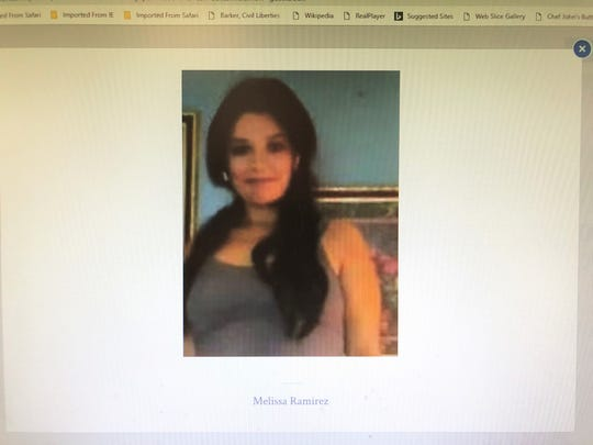 Melissa Ramirez, 29, was fatally shot to death in Laredo earlier this month. Her body was found on Sept. 3.