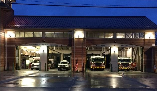 The Voorhees Fire Department responded to a blaze at the Plaza Shoppes at Voorhees early Sunday.