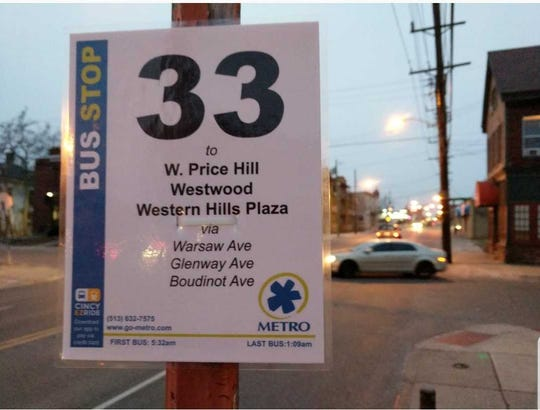 The Better Bus Coalition posted an example of what new signs might look like in Cincinnati.