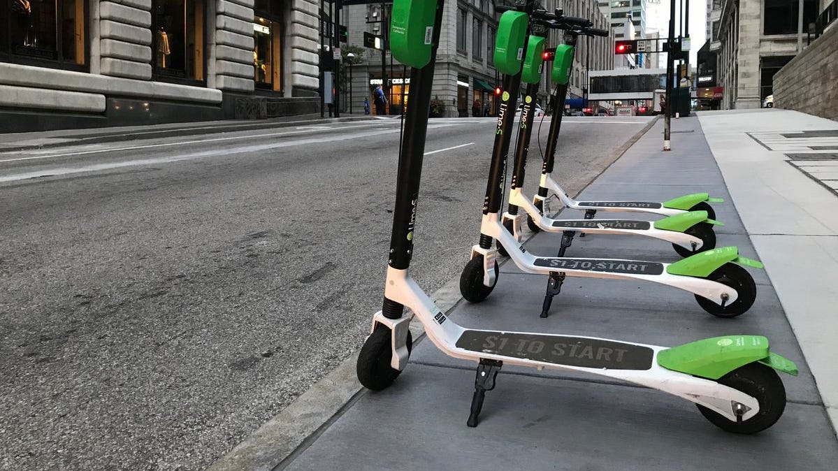 Seriously. Stop riding scooters on the sidewalks.