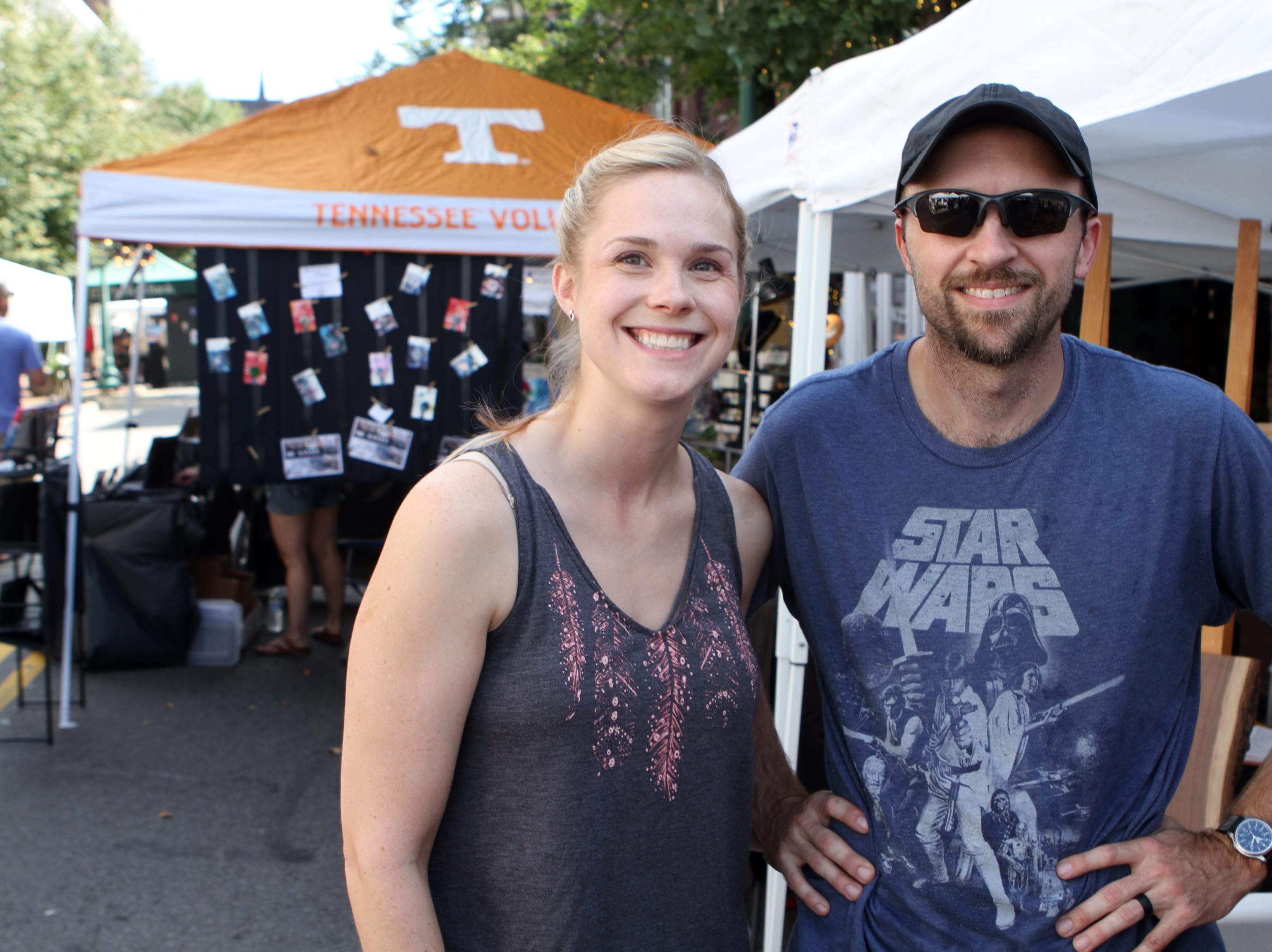 Jackie and Adam Lewis at Frolic on Franklin Saturday, Sept, 15, 2018.