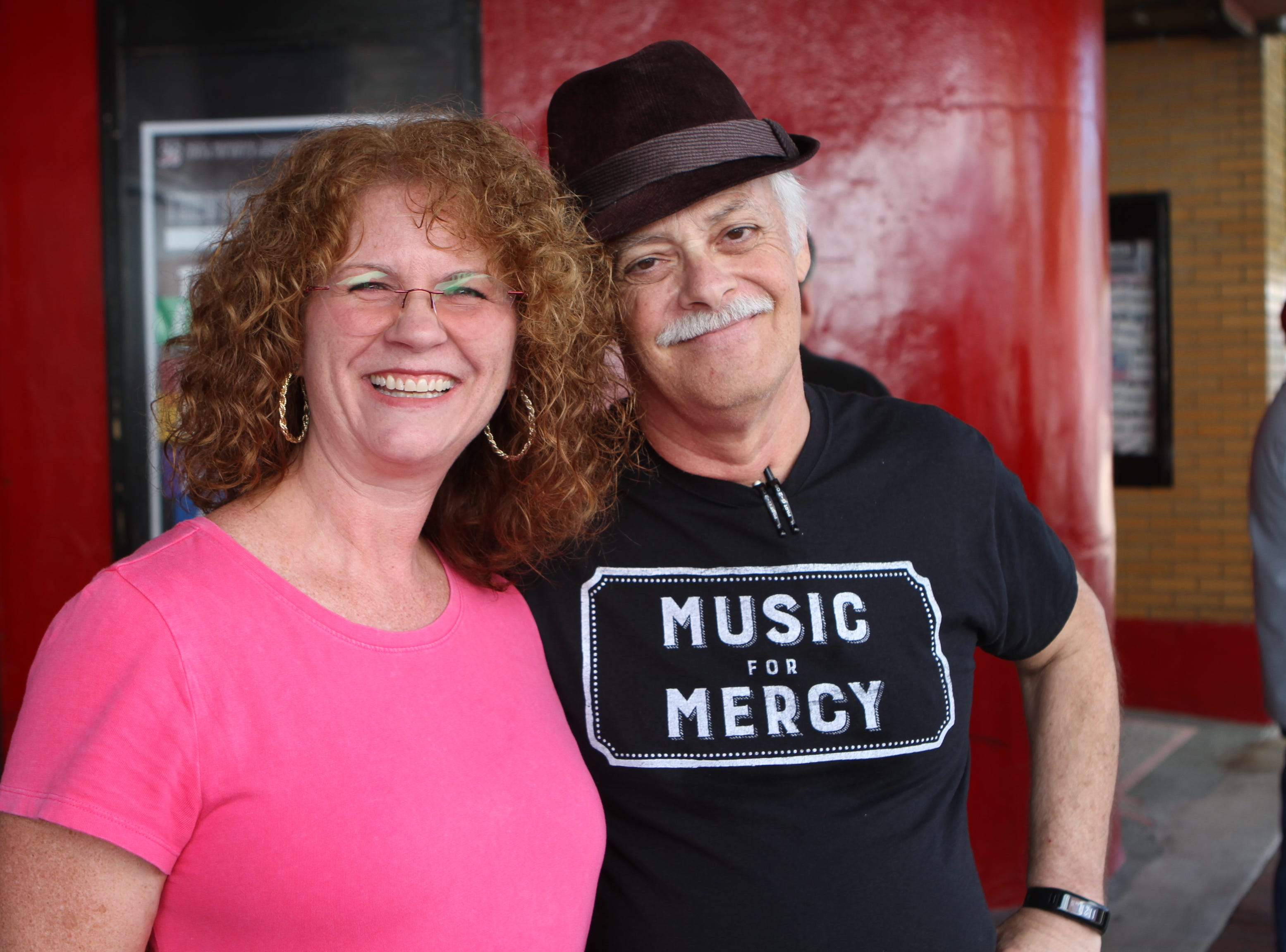 Lynne Halliburton and Tom Bridwell of Music For Mercy at Frolic on Franklin Saturday, Sept, 15, 2018.