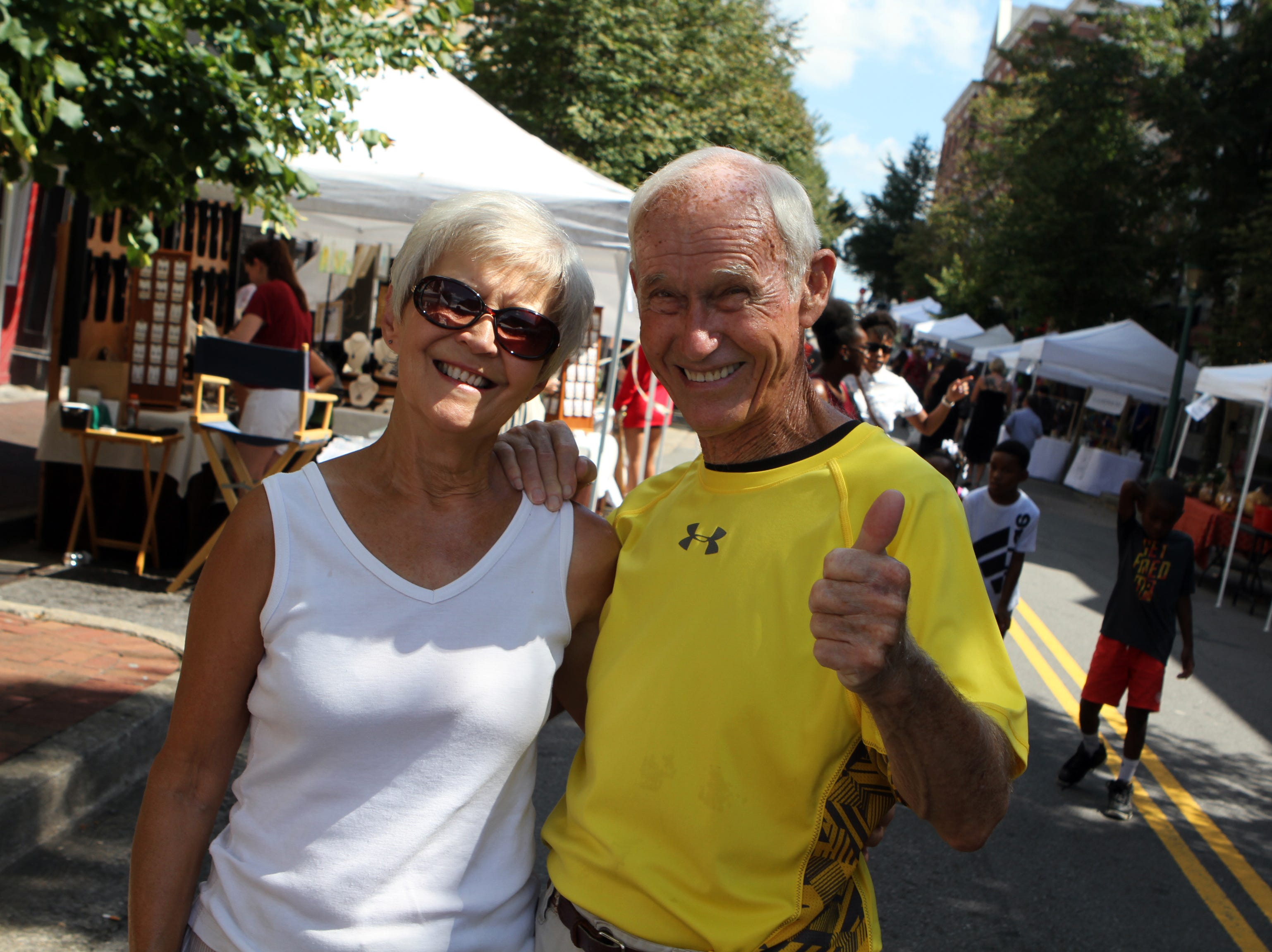 Patsy and George Ketch at Frolic on Franklin Saturday, Sept, 15, 2018.