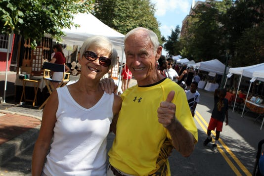 Patsy And George Ketch Having Fun At Frolic On Franklin