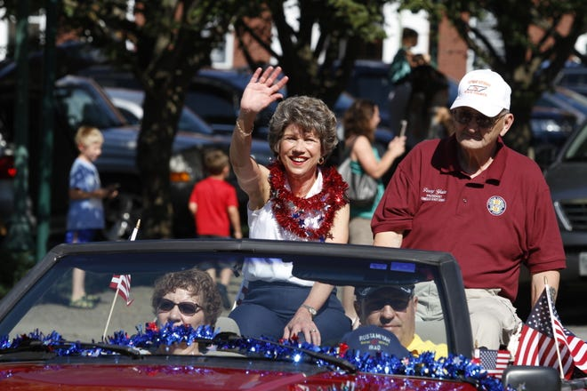 Clarksville Mayor Kim McMillan at the Welcome Home Veterans Celebration parade in downtown Clarksville Saturday, Sept. 15, 2018.
