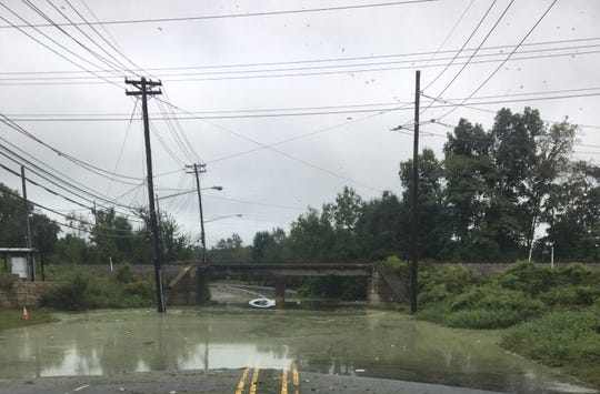 Submerged car in Piscataway hours after a woman was rescued