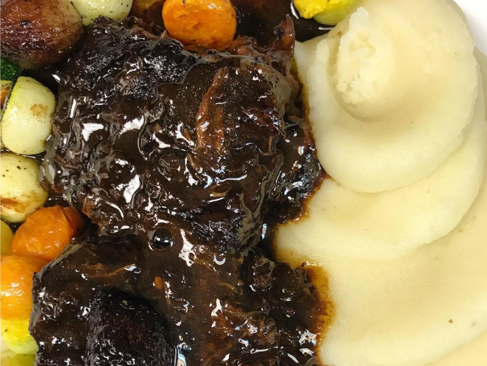 Open for six years, Just on Route 9 in Old Bridge, makes it a point to cater to its customers, particularly those with special dietary needs, such as gluten-free. This item is their Black Garlic Short Rib entree.