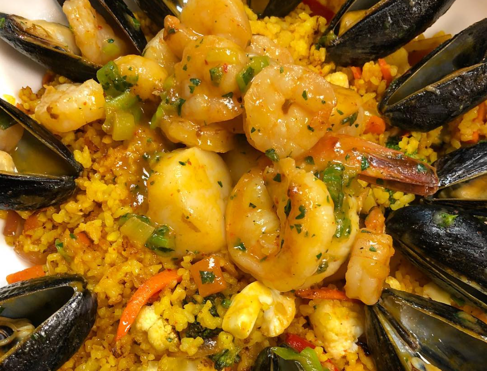 Open for six years, Just on Route 9 in Old Bridge, makes it a point to cater to its customers, particularly those with special dietary needs, such as gluten-free. This item is their Seafood Paella entree.