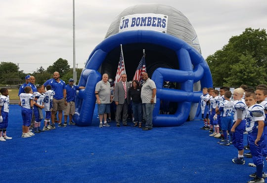 Freeholder Director Ronald G. Rios joined Sayreville officials and the Sayreville Junior Bomber Youth Football and Cheer Organization for its opening day on Sept. 8.