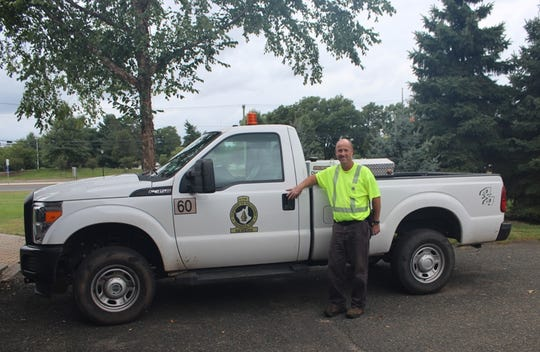 Piscataway DPW Foreman Michael Mosier and his truck.