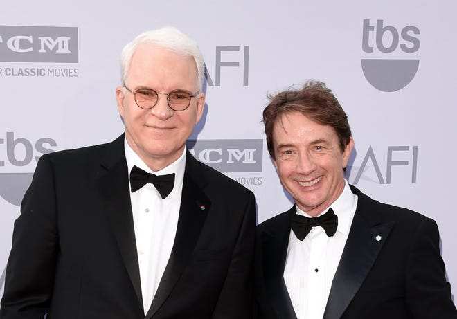 Steve Martin, left, and actor Martin Short will perform in Ames on Sunday, Sept. 23, 2018.