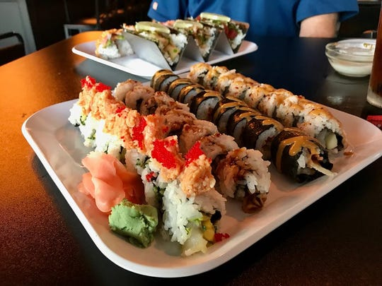 Assorted specialty rolls at Fusion Bistro.