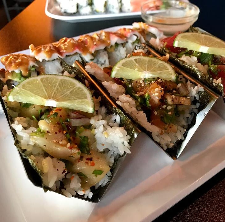 Here's a new place in West Des Moines where you can try a 'sushi taco'