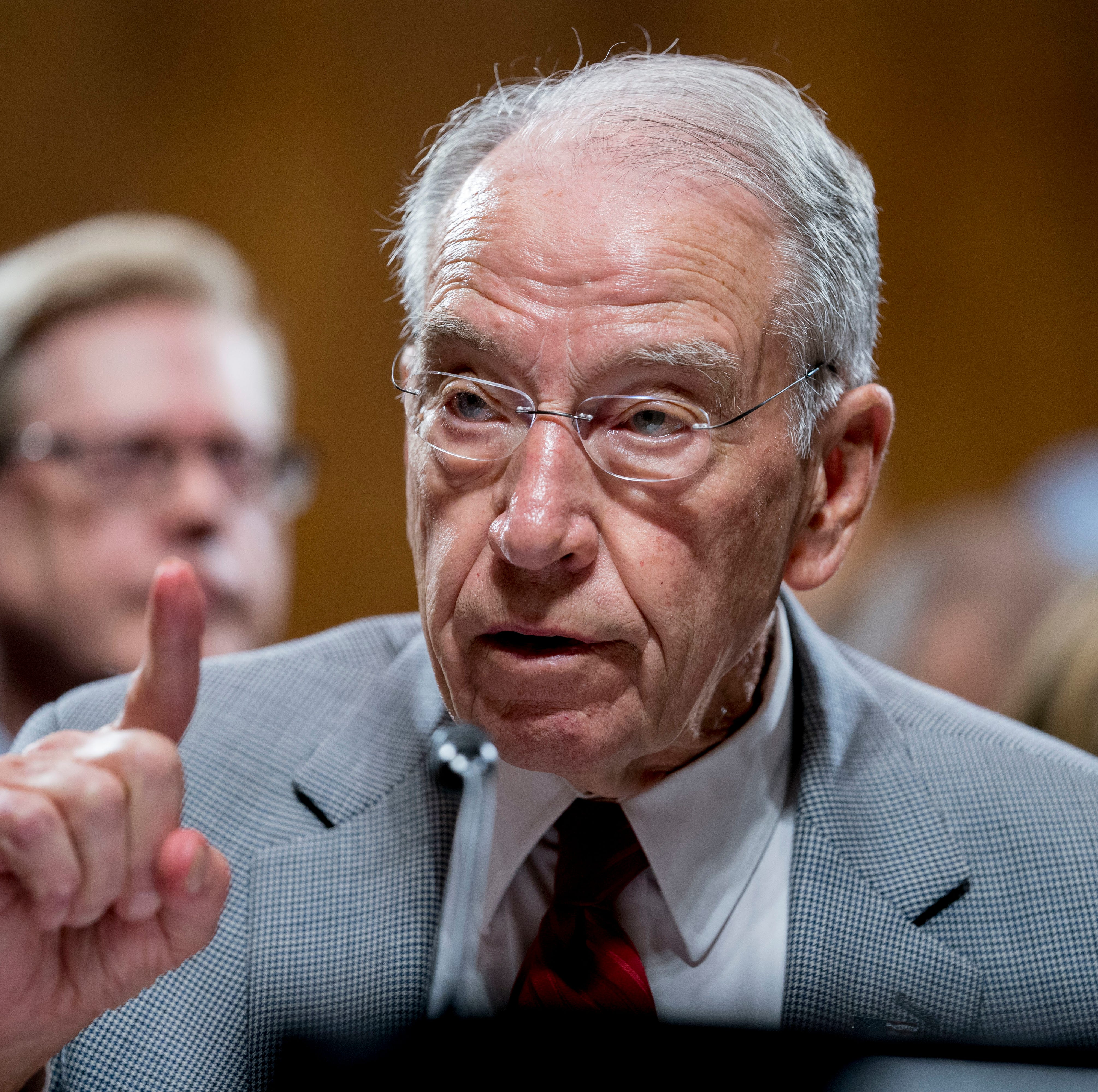 Senate Judiciary Committee Chairman Chuck Grassley, R-Iowa, speaks during a Senate Judiciary Committee markup meeting on Capitol Hill, Thursday, Sept. 13, 2018, in Washington.