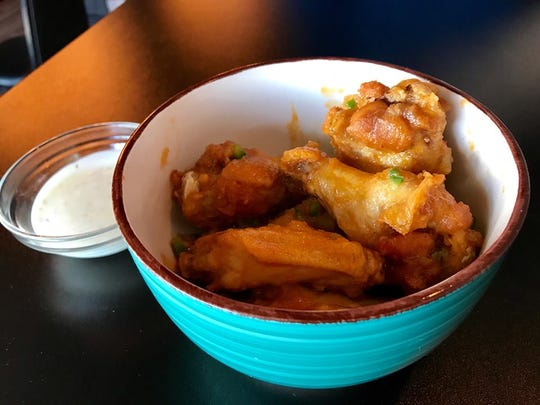 Pineapple Fire Wings at Fusion Bistro.
