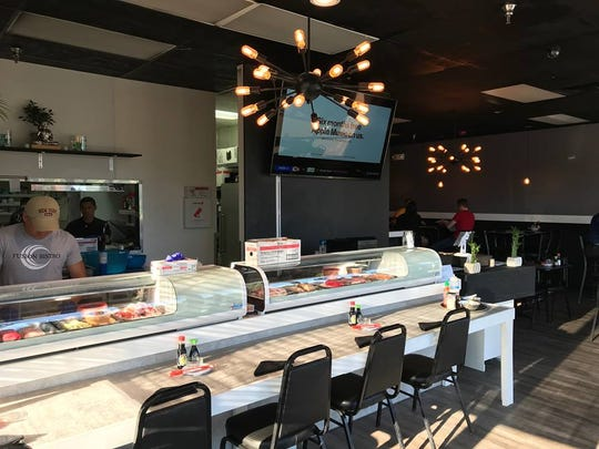 The sushi bar at Fusion Bistro.