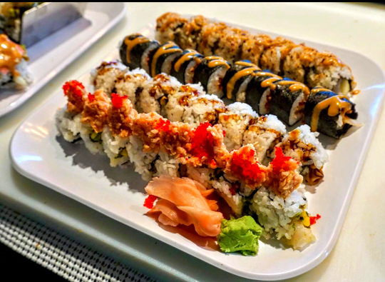 Assorted specialty rolls from Fusion Bistro.