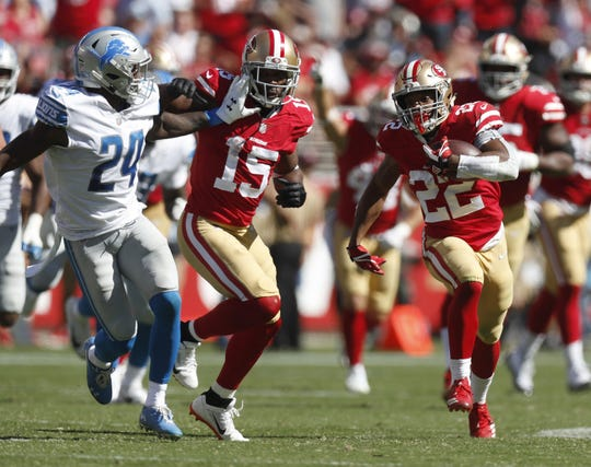 Matt Breida runs for a 66-yard touchdown.