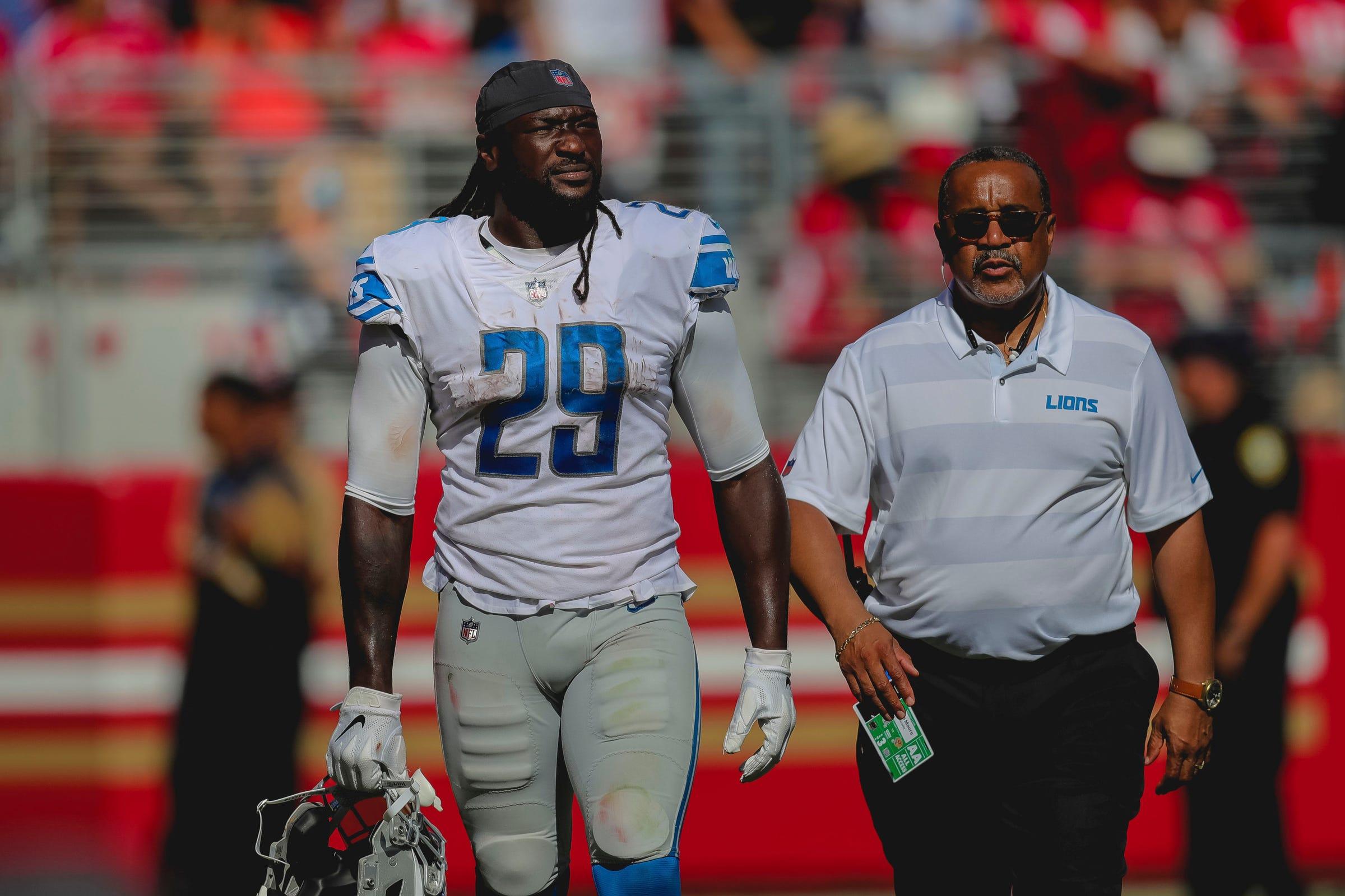 Hot Detroit Lions' Blount expects NFL fine for shoving Niner