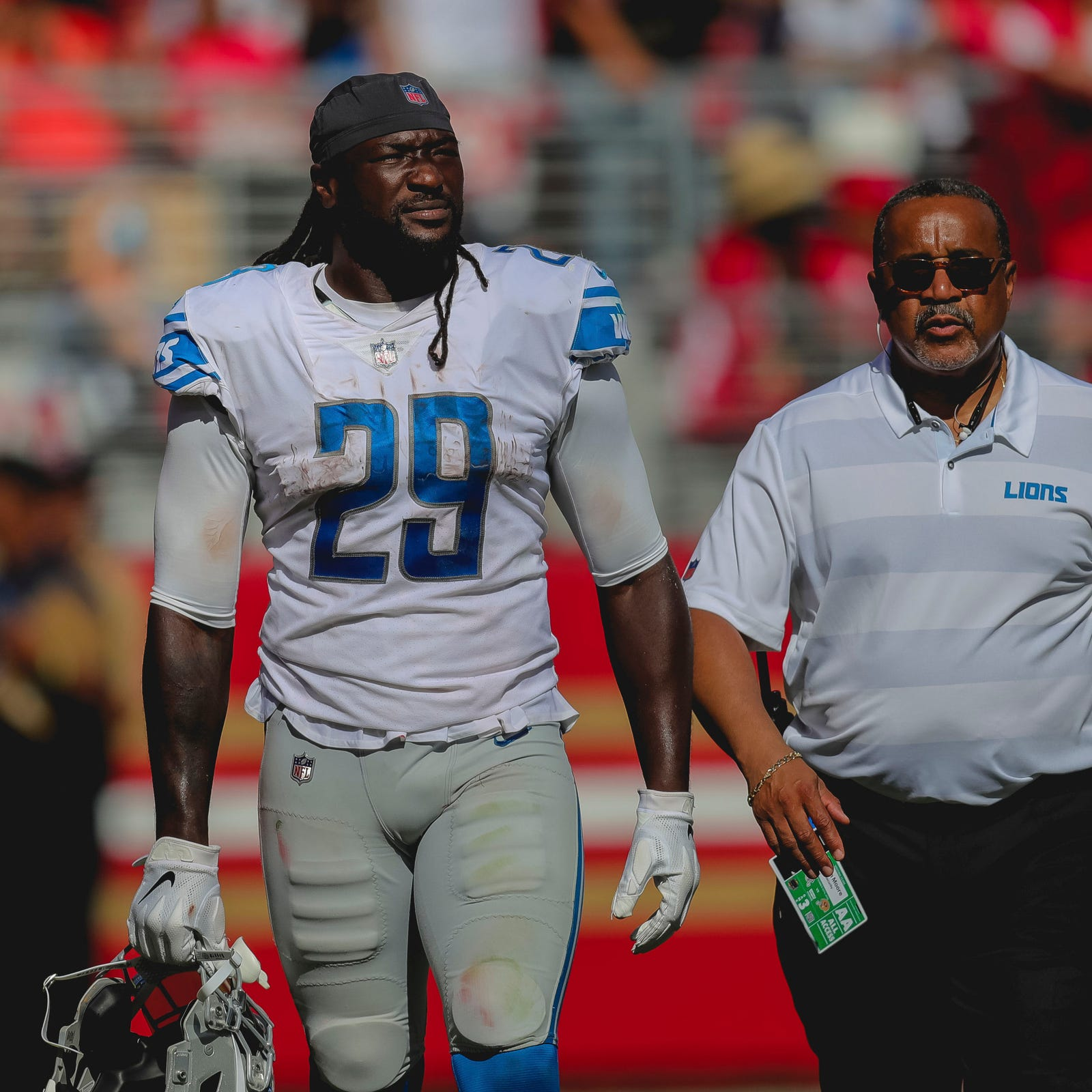 Detroit Lions' LeGarrette Blount expects NFL fine for shove, ejection