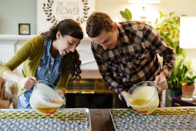 Holly and Justin Rutt, the co-founders of The Little Flower Soap Co., a Chelsea, Michigan-based company featured in Amazon's first-ever national TV ad for Amazon Storefronts.