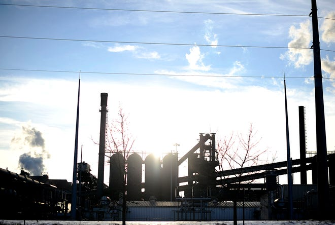AK Steel on the site of the Ford River Rouge plant on the border of Detroit and Dearborn.